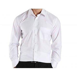 Men White Regular Fit Formal Shirt