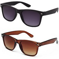 Austin Combo of Black  Brown Wayfarer Sunglasses