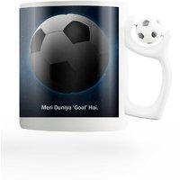 PosterGuy FIFA I Love Football (Goal) FIFA Rotating Football Handle Ceramic Mug