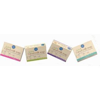Aadvik Camel Milk Anti-ageing Soap For All Skin Types - 400g (Set of 4)