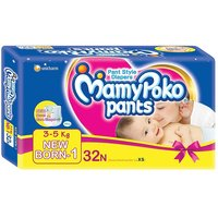 Mamy Poko Pant Style NB Size Diapers (32 Count)