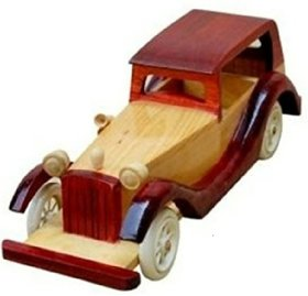 Wooden Vintage Classic Vehicle Car Toy