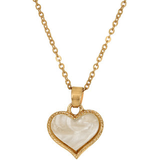 Fasherati Gold Alloy Non Plated Pendant With Chain Only For Women