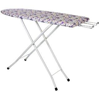 Saimani Printed Fabric Folding Self Standing Ironing Board Iron Table With Press Holder