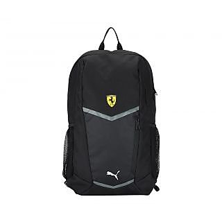 Puma Men'S Ferrari Fanwear Black Polyester Backpack