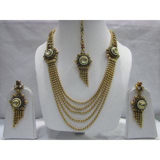 Conventional Haram One Gram Gold Jewelry Set In High Gold Polish