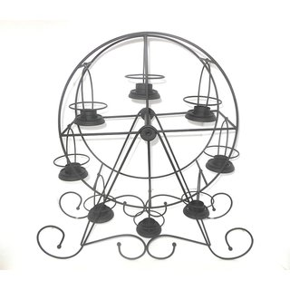 Eight T-light movable candle holder