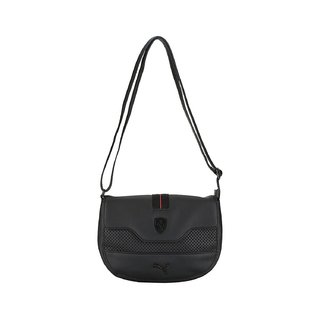 eb94327e7ef Buy Puma Women S Ferrari LS Small Satchel Black Polyester Sling Bag ...