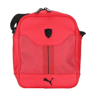 Puma Unisex Ferrari LS Portable Red Pu Sling Bag