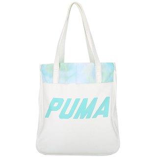 Puma Women'S Prime Shopper White Polyester Tote