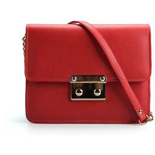 7e794c6204 Buy Eliabeth s Tailleur Red Messenger Bag Online- Shopclues.com