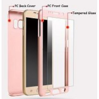 AR ACCESSORIES 360 DEGREE FULL COVERED MOBILE PHONE COVER WITH TEMPERED GLASS FOR SAMSUNG J2 2016
