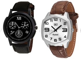X5 FUSION MEN'S WATCH COMBO ROMAN 12 4 BK CASE AND NEW W0234