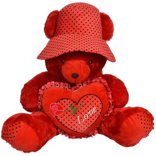 Dolphin Teddy Bear with Love and Hat Stuffed Toy