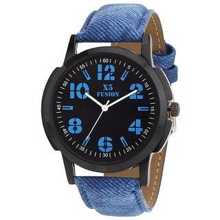 X5 Fusion Men'S Designer Watch Blue Jeans