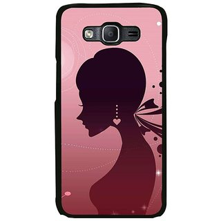 Fuson Designer Phone Back Case Cover Samsung Galaxy On7 ( Girl With Heart Earring )