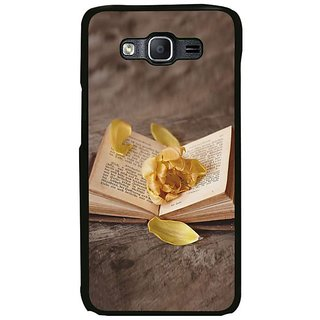 Fuson Designer Phone Back Case Cover Samsung Galaxy On5 Pro ( Rose Flower On The Book )
