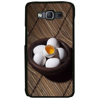 Fuson Designer Phone Back Case Cover Samsung Galaxy On7 ( Opened Egg In The Bowl )