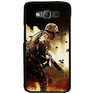 Fuson Designer Phone Back Case Cover Samsung Galaxy On5 Pro ( Soldier In The Battle )