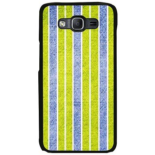 Fuson Designer Phone Back Case Cover Samsung Galaxy On7 ( Green And Blue Vertical Stripes )