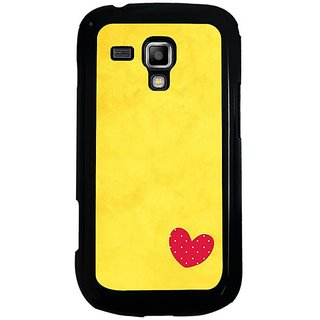 Fuson Designer Phone Back Case Cover Samsung Galaxy S Duos 2 ( A Small Little Heart In The Corner )