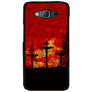 Fuson Designer Phone Back Case Cover Samsung Galaxy On7 ( Silhouette Of The Cross )