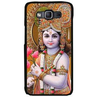Fuson Designer Phone Back Case Cover Samsung Galaxy On5 Pro ( Lord Krishna Holding Flowers )