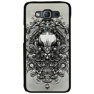 Fuson Designer Phone Back Case Cover Samsung Galaxy On7 ( The Head With The Patterns )