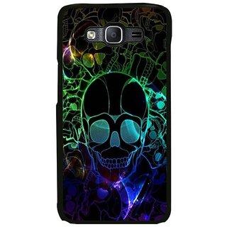 Fuson Designer Phone Back Case Cover Samsung Galaxy On7 ( Coloured Patterns Of Skulls )