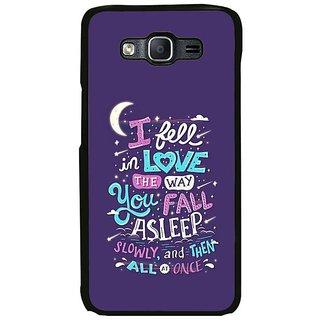 Fuson Designer Phone Back Case Cover Samsung Galaxy On7 Pro ( Love The Way You Sleep )