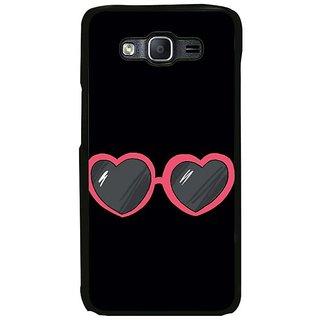 Fuson Designer Phone Back Case Cover Samsung Galaxy On5 Pro ( Heart Shaped Eye Wear )