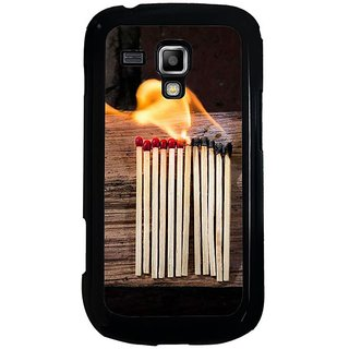 Fuson Designer Phone Back Case Cover Samsung Galaxy S Duos 2 ( Burning Matchsticks )