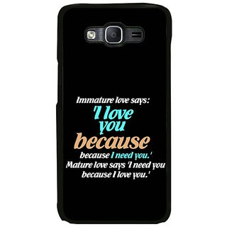 Fuson Designer Phone Back Case Cover Samsung Galaxy On7 ( I Need Your Mature Love )