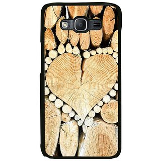 Fuson Designer Phone Back Case Cover Samsung Galaxy On7 ( Heart Shaped Stubs Of Trees )