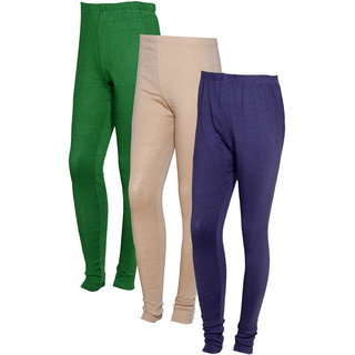 Indistar Women Warm Wollen Lycra Legging (Pack of 3)