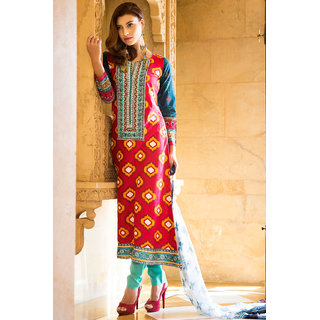 Marvelous Maroon Coloured Cotton Salwar Kameez