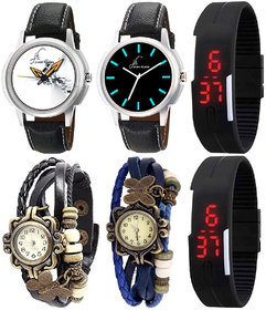 A Family Combo Of 6 Analog And Digital Watches