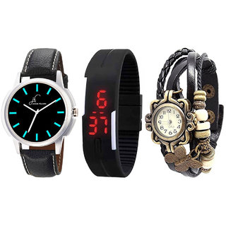 Combo Of 3 Different Analog And Digital Watches