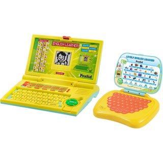 Prasid Combo Of English Learner Kids Laptop (Yellow)  Lovely English Learner (Yellow)