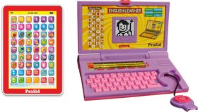 Prasid Combo Of English Learner Kids Laptop (Purple)  Get 1 PraSid Mini My Pad