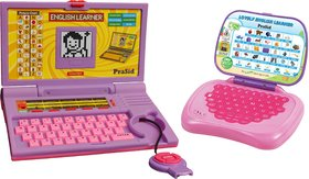 Prasid Combo Of English Learner Kids Laptop (Purple) Lovely English Learner (Pink)