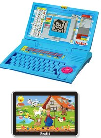 Prasid Combo Of English Learner Kids Laptop (Blue)   Small Old MacDonald Farm