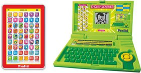 Prasid Combo Of English Learner Kids Laptop (Green)  Mini My Pad