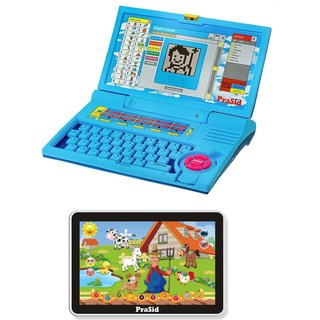 Prasid Combo Of English Learner Kids Laptop (Blue) &  Small Old MacDonald Farm