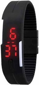 Jack Klein Silicone Black Digital Square Wrist Watch