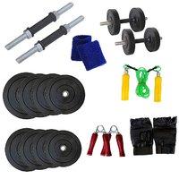 Venom 20 Kg. Home Gym With Dumbell Rods, Gym Gloves, Sk