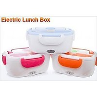 Portable Electric Heatable Lunch Box With Spoon (Assorted Color) _H8LB12