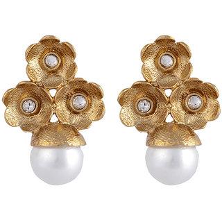 Arsya Jewellery Golden Studs with Pearls AOVE13
