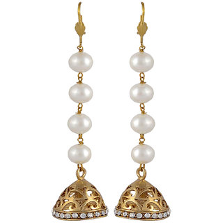 Arsya Jewellery Long Pearl Jhumki Danglers AOVE14