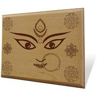 Jai Maa Kali Wooden Engraved Plaque